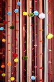垂直的窗帘 免版税库存图片