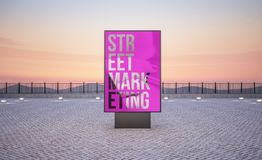 垂直的街道海报广告牌 皇族释放例证