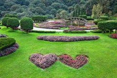 垂直的landscapingin公园 库存照片
