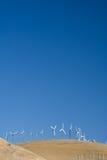 垂直的windfarm 免版税库存照片