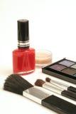 垂直秀丽的化妆用品 库存照片