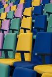 垂直行的位子 免版税库存图片