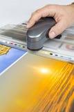 垂距印刷品控制 免版税库存图片
