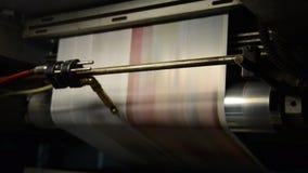 垂距印刷品新闻命中集合卷轴式记录纸 影视素材