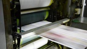 垂距印刷品新闻机器 影视素材