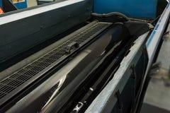 垂距圆筒CMYK印刷品打印机印刷业黑色Magen 免版税图库摄影