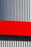 以垂直条纹的形式建筑抽象 免版税库存图片