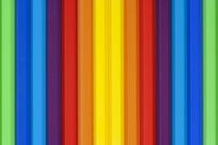 垂直的多彩多姿的铅笔 图库摄影