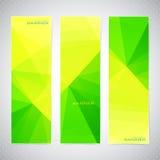 垂直的多角形套横幅以绿色和 皇族释放例证