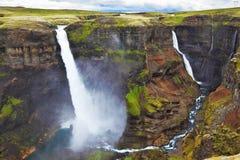 垂直的峭壁在冰岛 库存图片