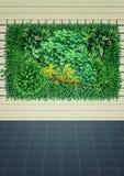 垂直的庭院室内背景 免版税库存图片