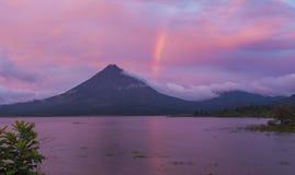 垂直的彩虹 库存照片