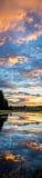 垂直的日出反射在大蒂顿国家公园 库存图片