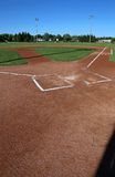 垂直的棒球场 库存图片