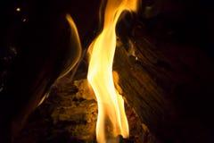 垂直的火焰 库存图片