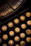 垂直的特写镜头打字机 库存照片