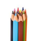垂直的特写镜头颜色铅笔 免版税库存图片