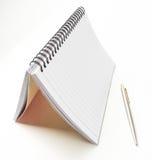 垂直的笔记本 库存图片
