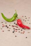垂直的辣椒的混合 免版税库存图片