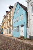 垂直的都市风景 弗伦斯堡,德国 免版税库存图片