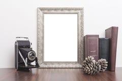 垂直的银色框架 免版税图库摄影
