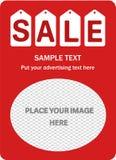 垂直的销售红色横幅 库存照片