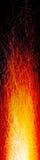 垂直被抓的火横幅 免版税图库摄影