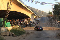 垃圾危机,黎巴嫩 库存图片