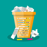 垃圾回收站垃圾平的传染媒介例证 库存图片