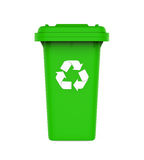 垃圾垃圾桶与回收标志 图库摄影