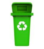 垃圾垃圾桶与回收标志 库存图片