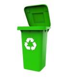 垃圾垃圾桶与回收标志 免版税图库摄影