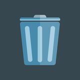 垃圾垃圾桶平的传染媒介 图库摄影