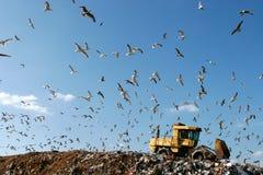 垃圾填埋工作 免版税库存图片