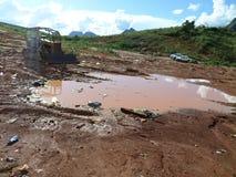 垃圾填埋开放在米纳斯吉拉斯州-巴西 库存照片