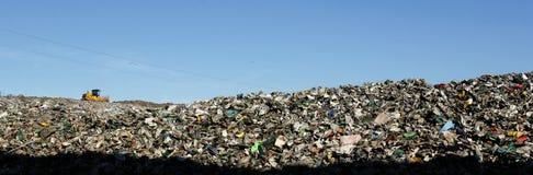 垃圾填埋风景 免版税图库摄影