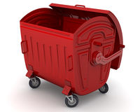 垃圾容器 向量例证