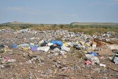 垃圾掩埋场本质上 免版税库存照片