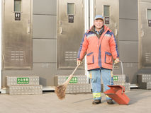垃圾收集工的画象 免版税图库摄影