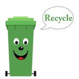 垃圾桶与回收文本 库存照片