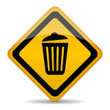 垃圾桶传染媒介标志 免版税库存照片