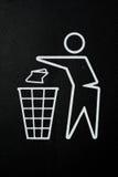 垃圾桶标志 图库摄影