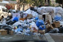 垃圾灾害在黎巴嫩 免版税图库摄影