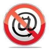 垃圾短信标志 免版税库存照片