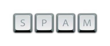 垃圾短信计算机键盘 免版税库存照片