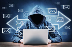 垃圾短信邮件 免版税库存图片