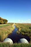 垄沟排水设备 库存照片