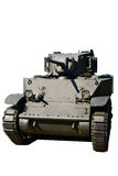 轻型坦克斯图尔特隔绝了 库存图片