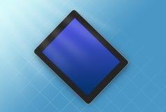 类型片剂的例证在上面的蓝色 免版税库存照片