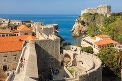 垒和堡垒Lovrijenac 杜布罗夫尼克市 克罗地亚 免版税库存图片